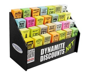 Dynamite Discounts Coupon Display Box