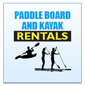 Paddle Board and Kayak Rentals, $10 Per Hour or $25 for a 3 hour rental