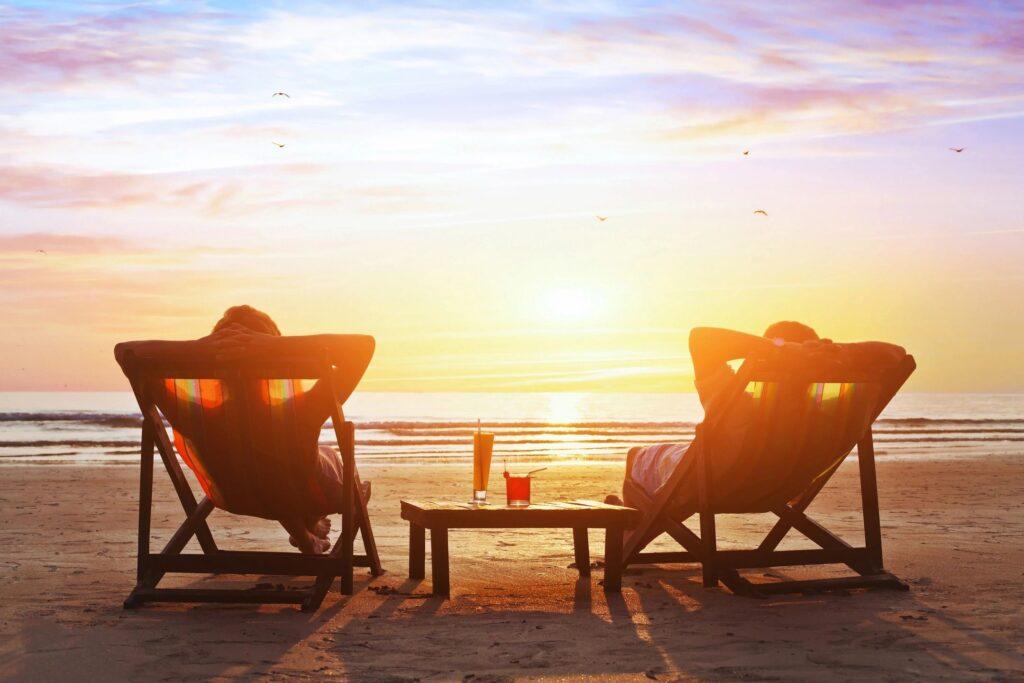 2 people on the beautiful Cocoa Beach
